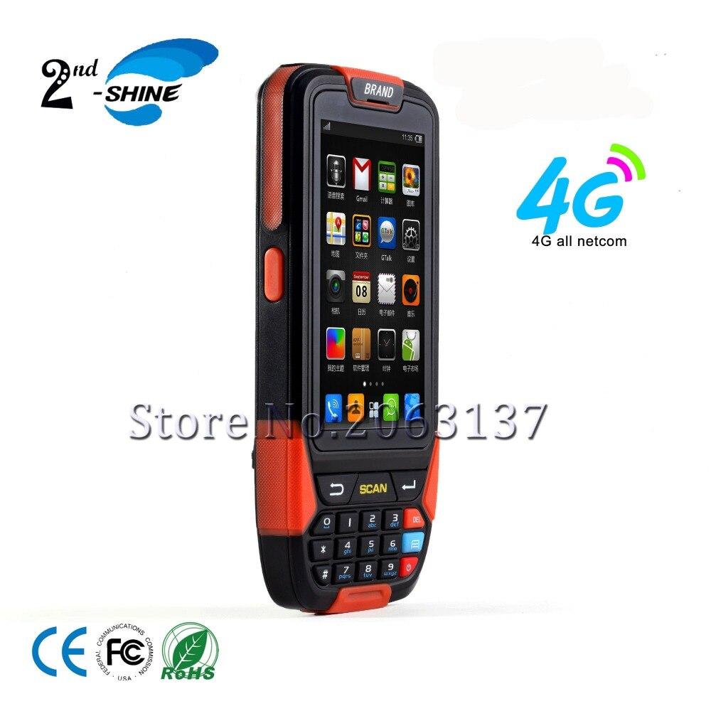 Escáner de código de barras 3C/FCC/ROHS inalámbrico Industrial PDA Android de mano con soporte USB BT Cámara GPS de 4,0 pulgadas lector láser