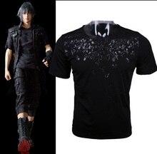 Final Fantasy XV Noctis Cosplay T-shirt Anime FF15 hommes T-shirt costume coton manches courtes T-shirt hauts T-shirt fête dhalloween