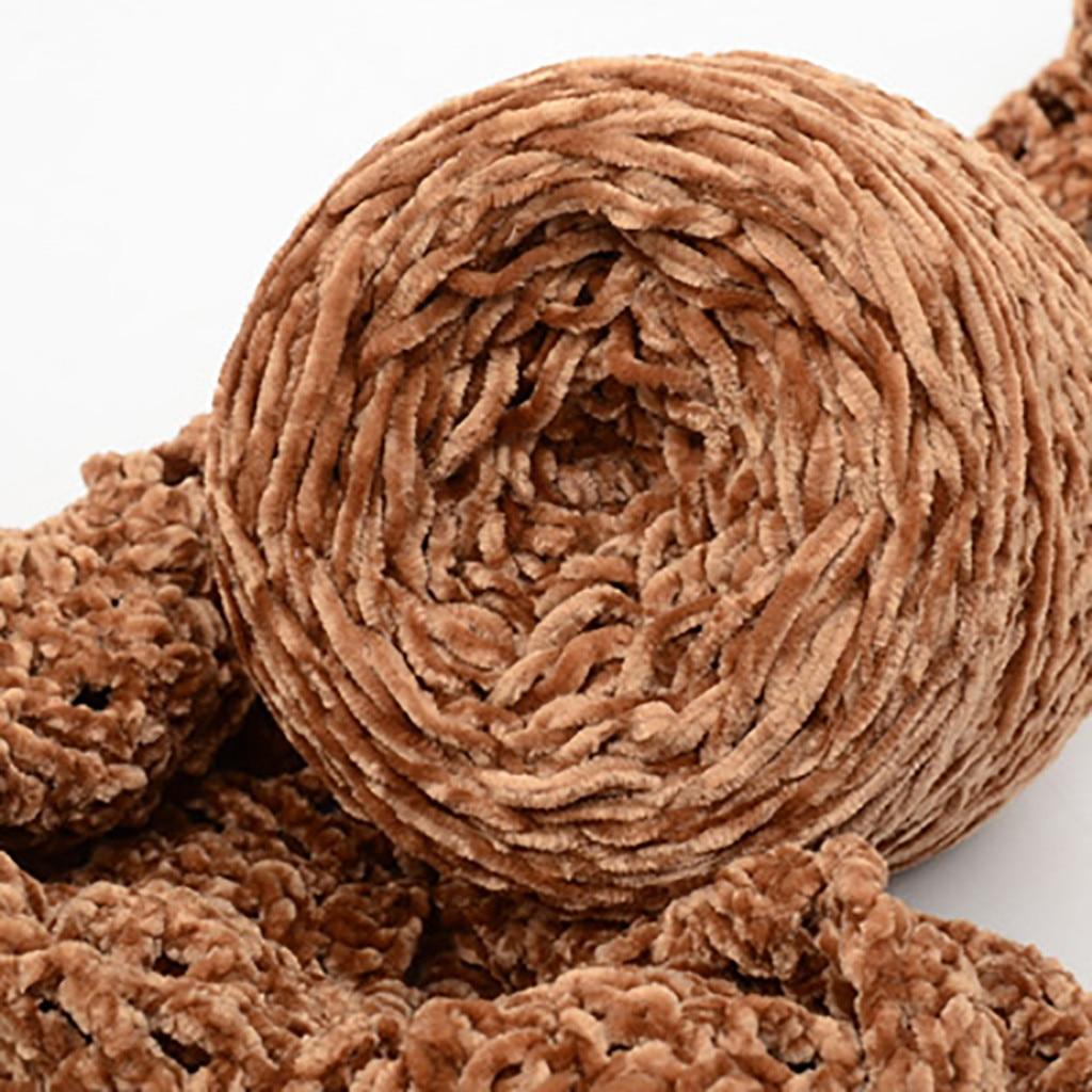 Hilo de ganchillo de algodón dorado, hilo de terciopelo, bufanda giratoria DIY, Hilado de lana de punto, grueso, gorro cálido, tejido de lana para el hogar, laine tricoter
