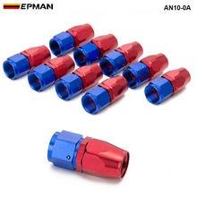 10 pièces/lot 0 degré (droit) AN10 raccord dextrémité de tuyau en aluminium refroidisseur dhuile tuyau raccord AN10-0A