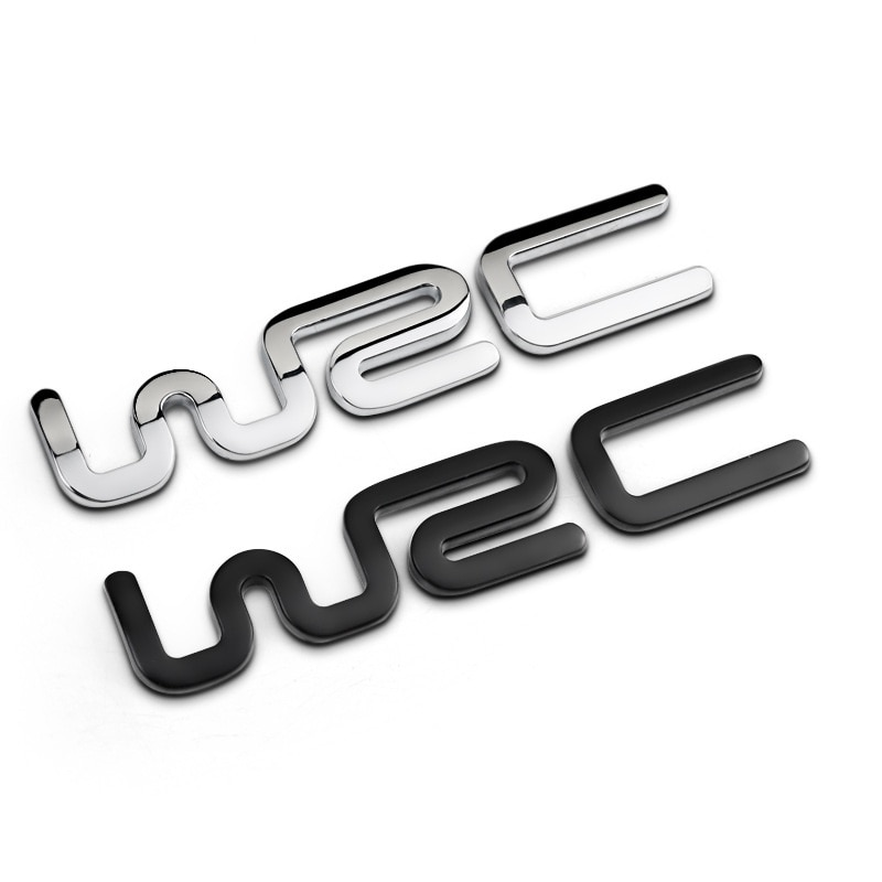 Car styling 3D Metal WRC Auto Car Badge Emblem Sticker for Toyota BMW Ford Fiat Citroen Audi benz Volkswagen VW Golf Cruze