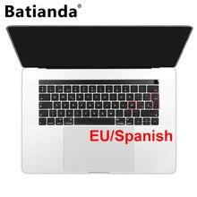 Batianda EU disposition clavier espagnol couverture autocollant peau pour Macbook Pro 13