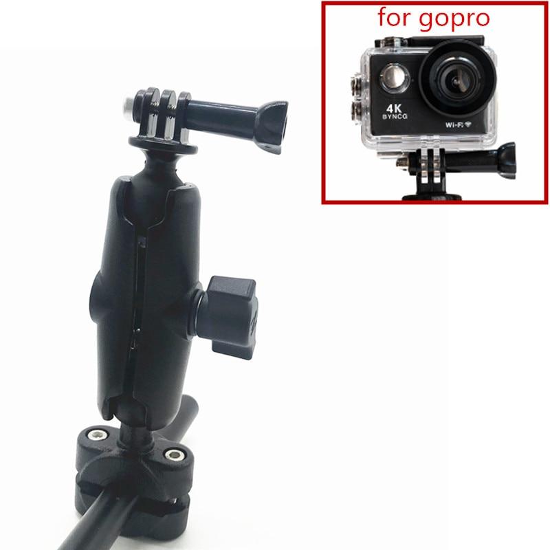Motorrad Roller Spiegel Stem Halterung Bar Montieren Auto Kopfstütze Montieren Basis für sony garmin Gopro Kamera Smarpthone Dvr Camcoders