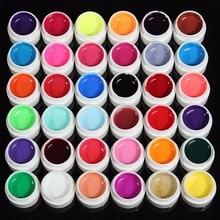 36 Pcs Mix Pot Tip Color Builder Polish Nail Art UV Gel Solid Extension Manicure