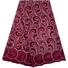 Tecido de renda voile suíço africano algodão suíço mais recente design do vinho tecido de renda voile africano na suíça tecidos de renda nigeriano