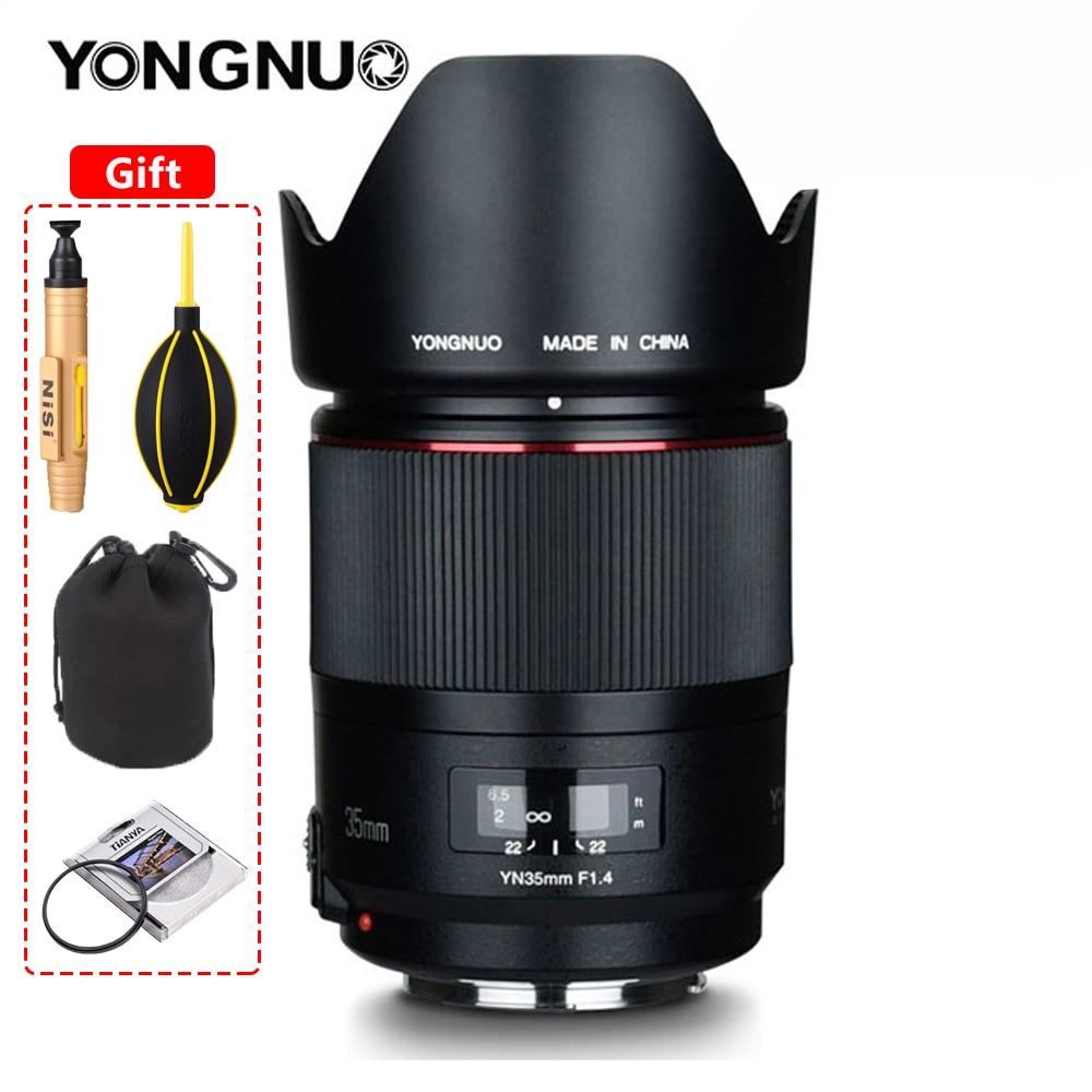 YONGNUO YN35MM F1.4 واسعة زاوية عدسة lente لكانون مشرق فتحة رئيس DSLR كاميرا لكانون 600D 60D 5DII 5D 500D 400D عدسة