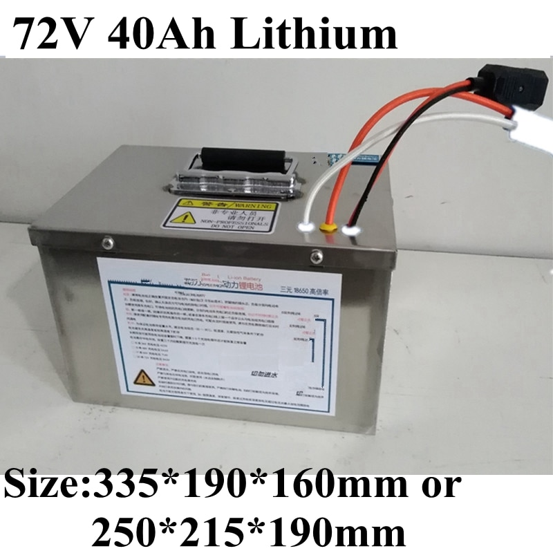 72v 40Ah batería de iones de litio ternario 18650 batería de litio Paquete de alta potencia recargable coche eléctrico motocicleta eléctrica