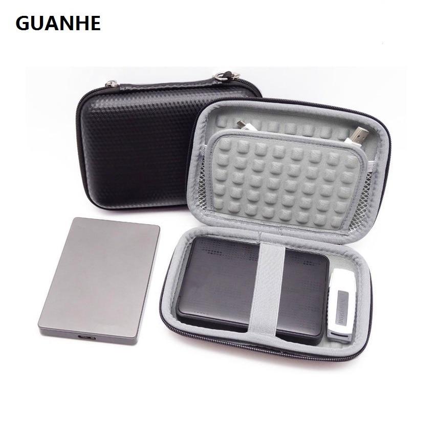 External Hard Drive Case Bag Accessories Organizer Bag For 2.5 Inch Hard Drives,Estern Digital,Toshiba,Seagate,Power Bank