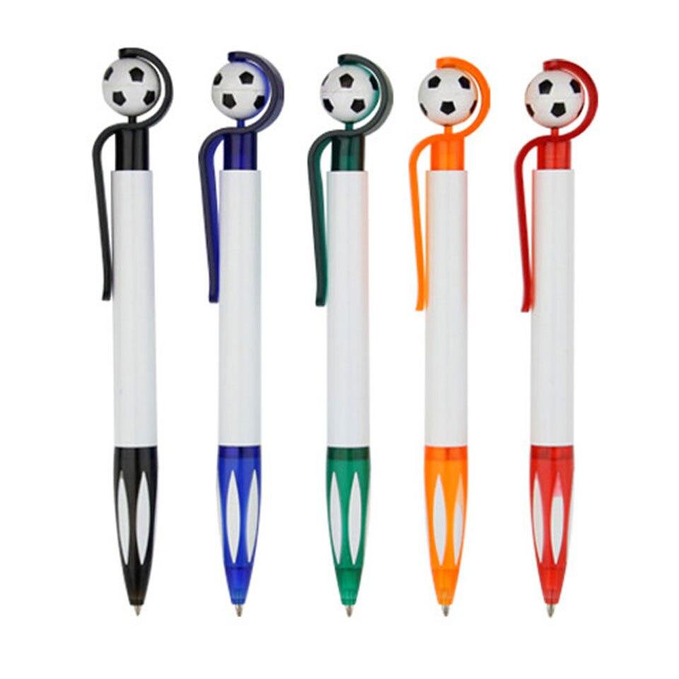 5 шт./лот шариковая ручка 0,5 мм синие чернила принадлежности для письма шариковая ручка милые футбольные корейские школьные принадлежности ...