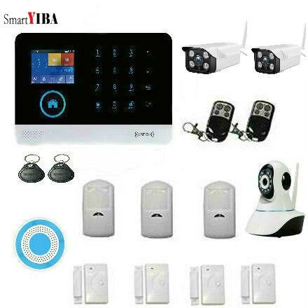 SmartYIBA WiFi sistema de alarma inalámbrico casa inteligente Multi-función gateway alarma Kit de seguridad para hogar sensor PIR puerta