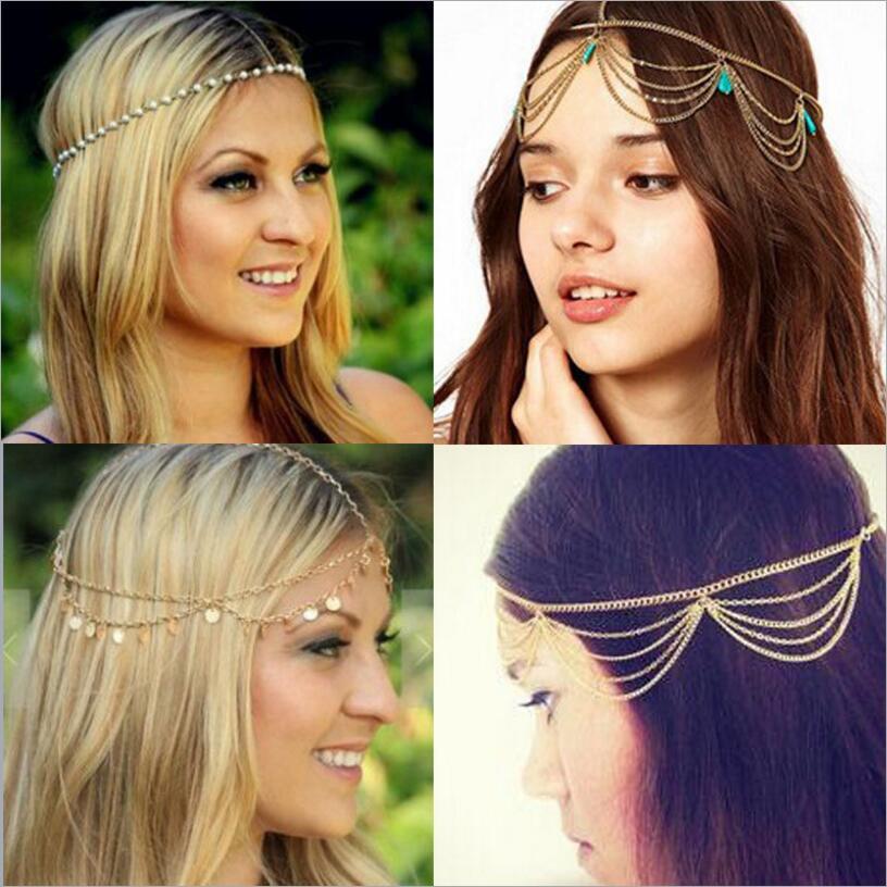 Женская повязка на голову Haimeikang, модная повязка на голову в стиле хиппи