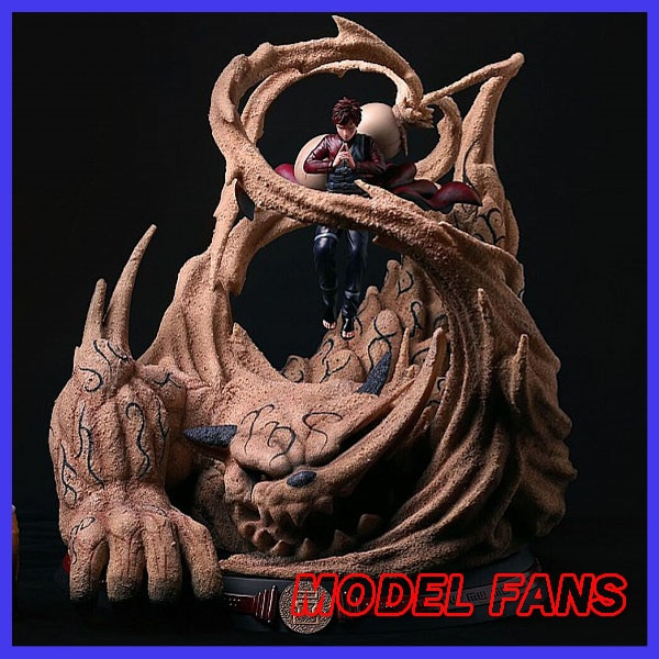 MODEL FANS INSTOCK LS NARUTO 51cm Gaara and bijuu Shuukaku GK resin statue contain two  for Collection Handicrafts