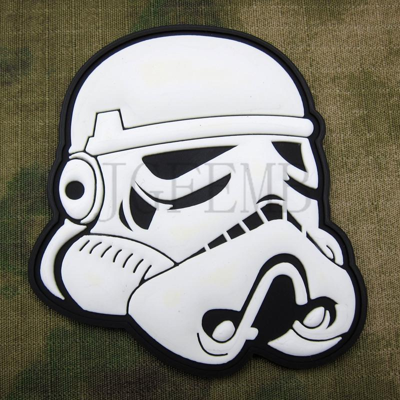 Blanco 501st legión Imperial STORM TROOPER militar 3D parche de PVC PB1631