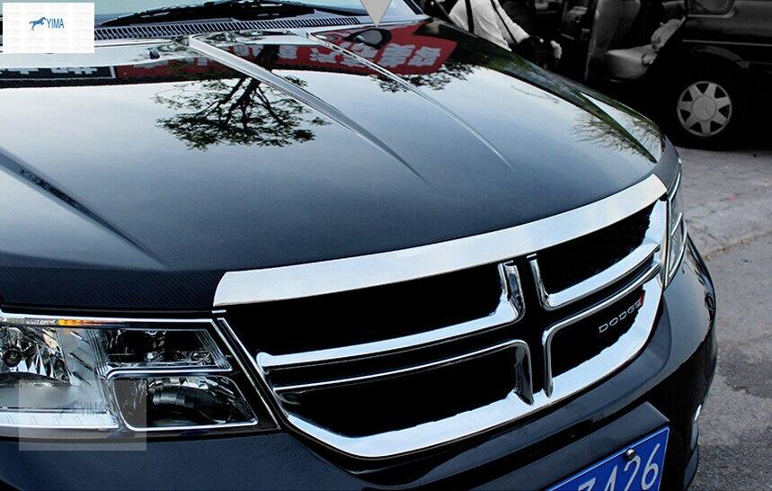 Yimaautotrims авто аксессуар передний капот решетка решетки бампера Накладка для Dodge Journey JCUV Fiat Freemont 2012-2015