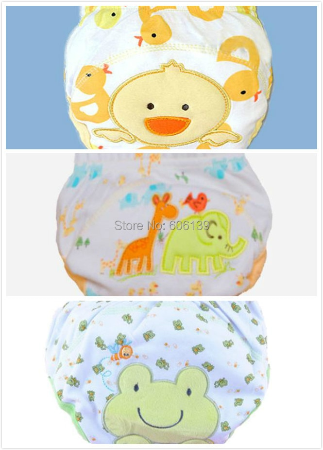 Lovely waterproof baby boys & girls potty training pant infant underwear panties newbear underclothing 3pcs/lot free shipping
