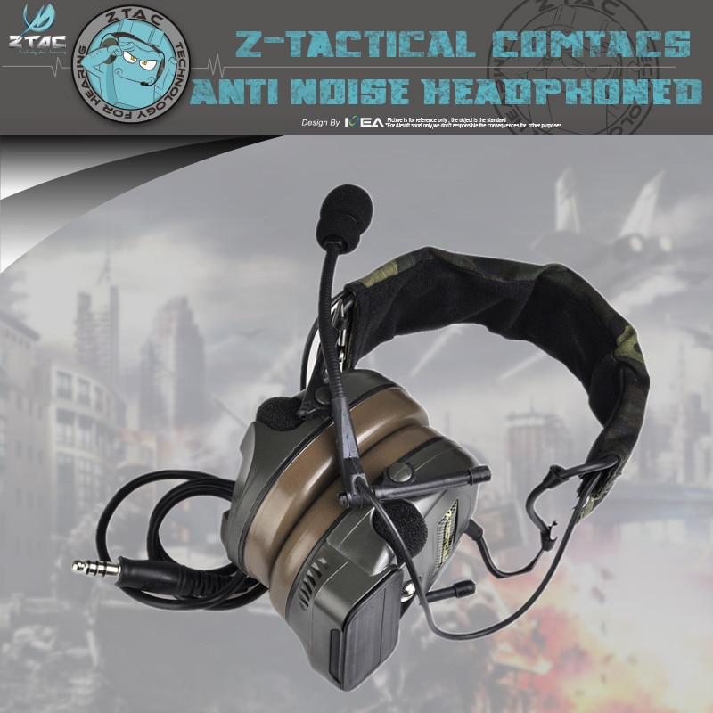 Element Z Tactical  Z054 Headset Airsoft Combat Comtac I Military Noise Reduction Headphone With Peltor