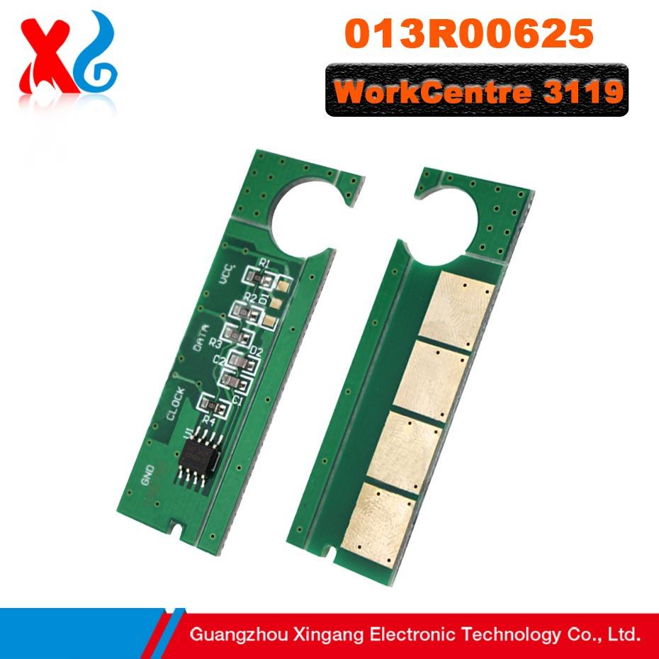 5 uds 013R00625 reemplazo de Chip de cartucho de tóner Compatible para Xerox WorkCentre3119 WorkCentre 3119 Chips de reinicio impresora Phaser