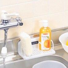 Trigo fibra esponja Rack de almacenamiento cesto de lavado paño o jabón estante organizador casa Baño ventosa para la cocina drenaje titular