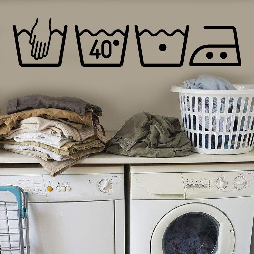 ZOOYOO горячая Распродажа, стиральная машина, домашний декор, Прачечная, украшение комнаты, съемный художественный настенный стикер, виниловая настенная наклейка