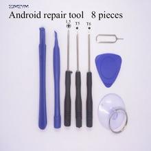Hot selling 8 in 1 Mobile Phone Repairing Tool Kit Spudger Pry Opening Tool LCD Repair Tools with 1.5MMT5T6 screwdrivers