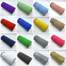 5Yards/lot 3mm High-Elastic Sewing Elastic Ribbon Elastic Spandex Band Trim Sewing Garment Accessories Lace Trim