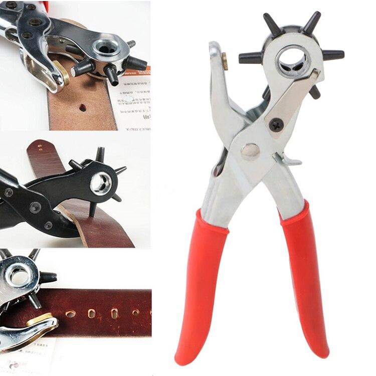 Ремешки машина мешок сеттер швейная Бытовая кожевенное ремесло кожа перфоратор револьверный инструмент плоскогубцы петля ремень отверстие ремешок для часов