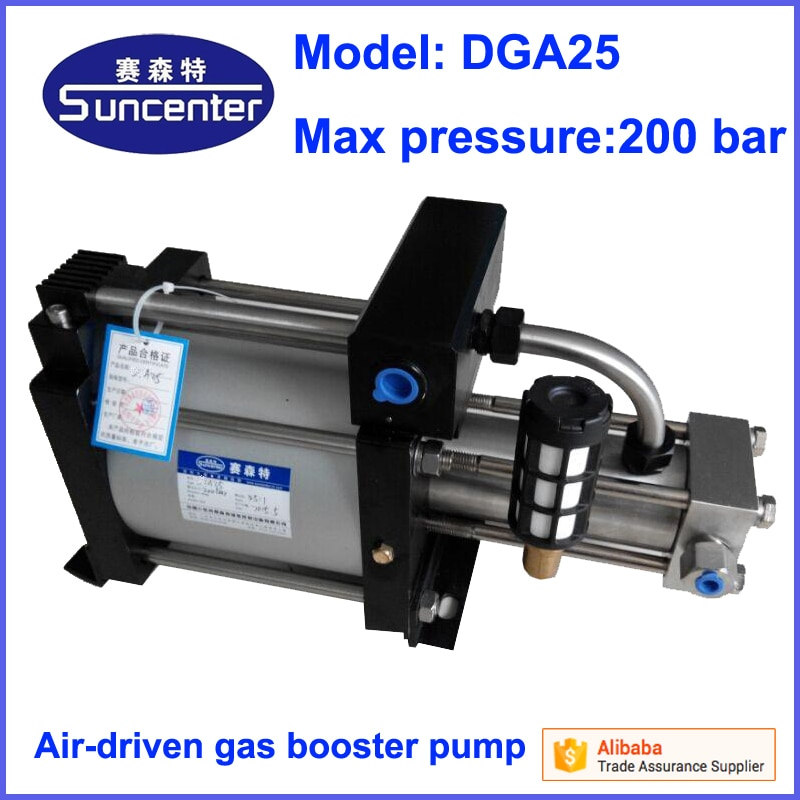 Suncenter DGA25 modelo max 200 bar bomba de refuerzo de gas de hidrógeno neumática
