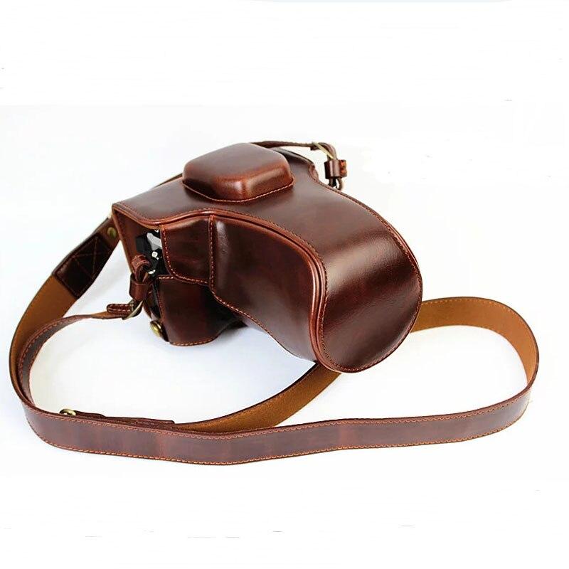 Luxury Pu Leather Video Bag Camera Case For Olympus EM5 II OM-D EM5 Mark II EM5II Camera Pouch Cover Open Battery directly