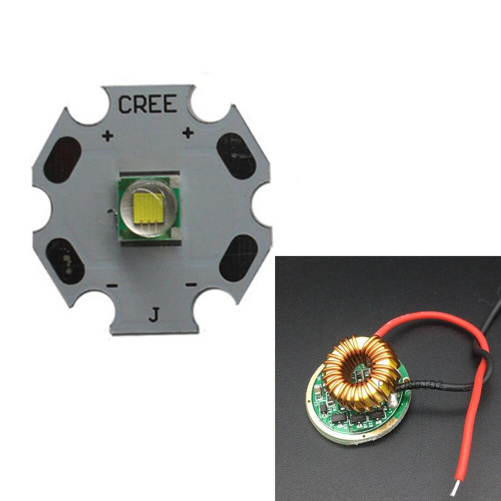 CREE XML LED XM-L T6 U2 10 Вт белый 6000-6500 к СВЕТОДИОДНЫЙ Излучатель Чип 20 мм Cooper PCB + вход 12 В LED 5 Режим драйвер