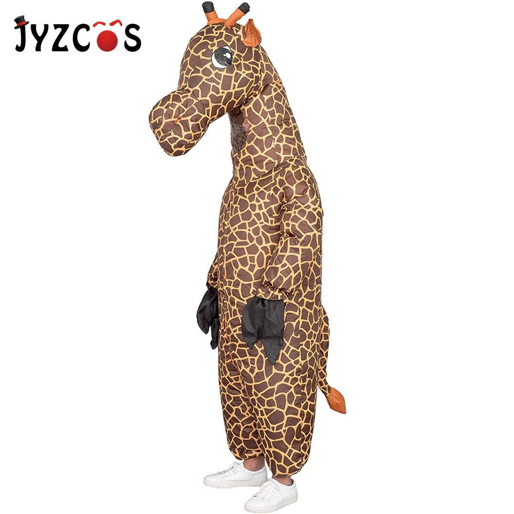 Jyzcos Opblaasbare Giraffe Kostuum Purim Halloween Party Kostuum Volwassen Cosplay Pak Fantasy Vrouw Jurk Carnaval Mascotte Kostuum
