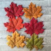 50pcs 8cm vivid artificial silk maple leaves for home wedding party decoration accessories scrapbooking fake flower maple leaf