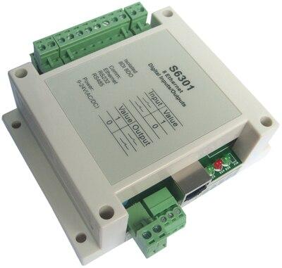 Versión de red de 8 módulos de conmutación de entrada y salida digital Ethernet de fibra óptica