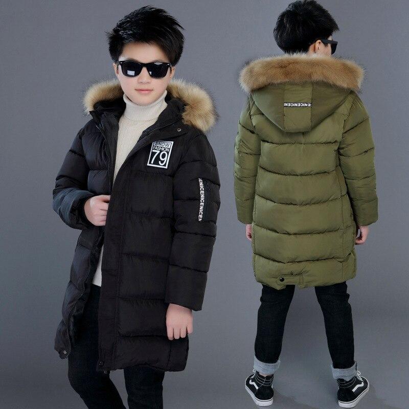 Inverno engrossar à prova de vento quente crianças casaco à prova dwaterproof água crianças outerwear algodão filler weight meninos jaquetas para 4-14 anos de idade