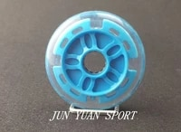 high quality8pieceslot 90mm led flash inline speed racing speed skating wheel for street brushing cool lightfree shipping