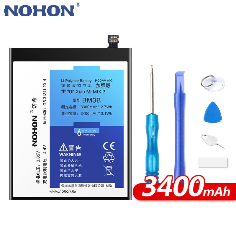 Batería NOHON para Xiaomi mi Max 2 mi x 2 BM3B BM4C BM49 BM50 batería de repuesto Max2 mi x2 batería de polímero de litio + herramientas gratis