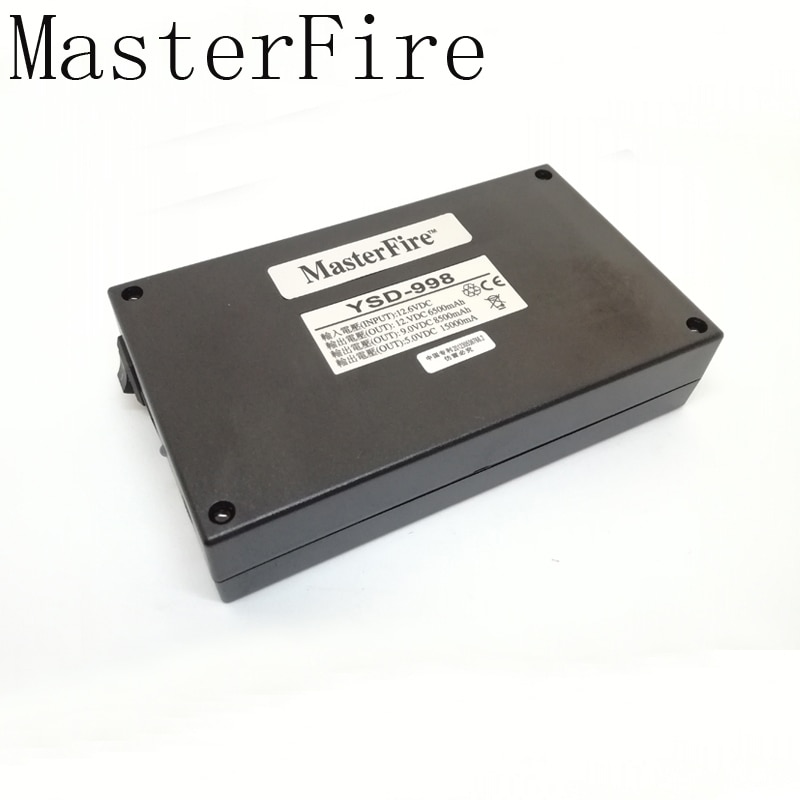 MasterFire 3SET/LOT 5V 15000mAh 9V 8500mAh 12V 6500mAh 3 in 1 DC Rechargeable Battery Li-ion Batteries For CCTV CAM Camera DVR