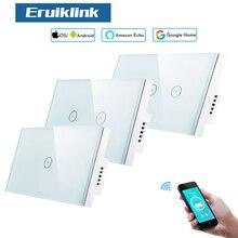 Eruiklink стандарт США смарт Wifi выключатели света, сенсорные Настенные переключатели, Совместимость с Alexa и работа с Google Home, управление приложен...