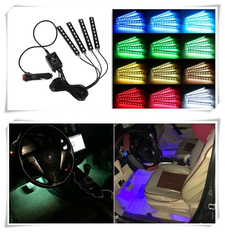Coche de estilismo para interior de coche reposición accesorios LED neón lámpara Decoración Para Dodge JCUV viaje RAM GMC calibre dardo cargador GT