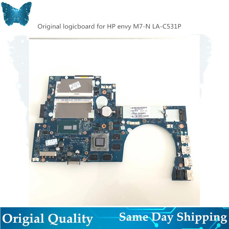 Original novo logicboard para hp envy M7-N placa-mãe 819965/813681-001 i7 LA-C531P