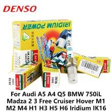 4 шт./компл. DENSO автомобильная свеча зажигания для Audi A5 A4 Q5 BMW 750iL Madza 2 3 Free Cruiser Hover M1 M2 M4 H1 H3 H5 H6 Iridium IK16
