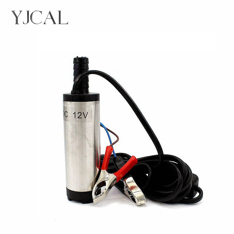 Electric Oil Suction Pump Diesel Fuel DC 12v 24v Stainless Steel 38MM Transfer  Submersible Refueling Tool