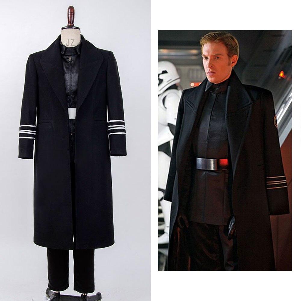Disfraz de Cosplay de Star The Force Awakens General Hux para hombre, conjunto completo de Navidad