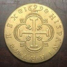 1699 spanien 8 Escudos-Carlos II Seville Gold Kopie Münze