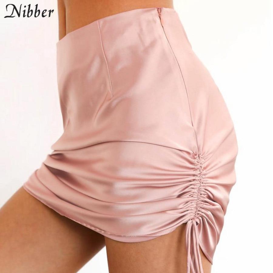 Nibber primavera nova rosa bonito elegante festa mini hip saia feminina verão moda escritório senhora clube noite casual bodycon midi saia