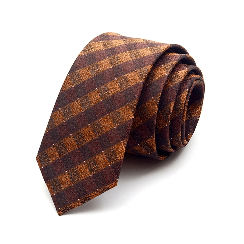 High Quality New 2019 Tie For Men Skinny Print Plaid Solid Color Slim Necktie Cravat Clothing Accessories Men Ties with Gift Box