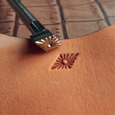 DIY Leather Craft Senior Steel Metal Construction Leather Craft Geometri Convex Stamp Tools 15mm*8mm
