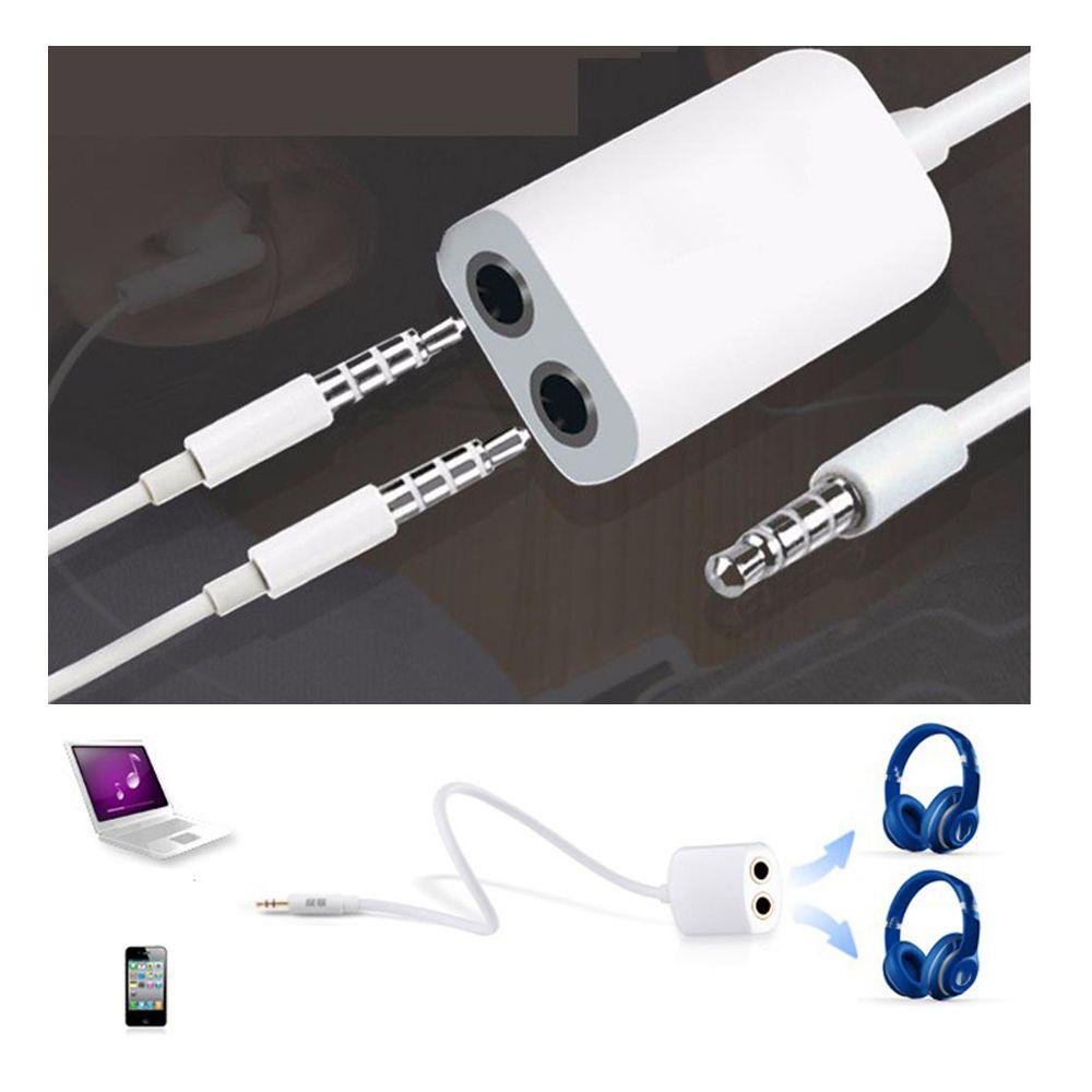 1 шт. 3,5 мм Белые Двойные наушники для наушников Y сплиттер кабель Шнур адаптер разъем аудио кабель аксессуары для мобильного телефона