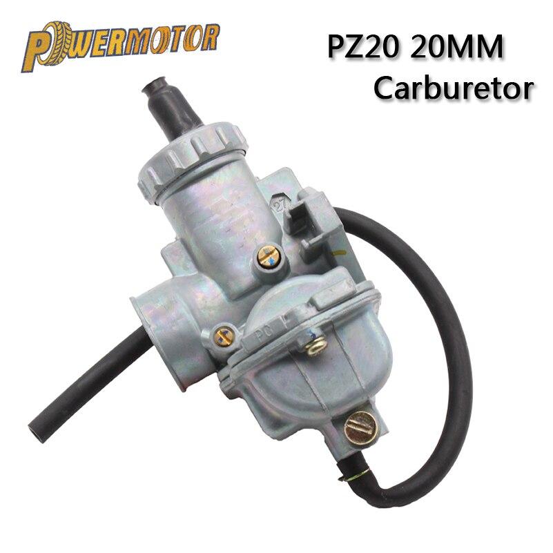 PowerMotor PZ20 20 мм карбюратор для мотоцикла Carb для 50cc 70cc 90cc 110cc 125cc 135 для Kazuma ATV Quad Go Karts мопед SUNL HK110