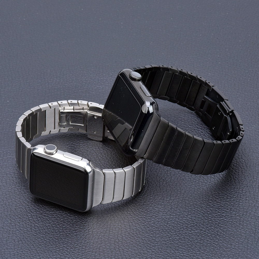 Stainless Steel strap for Apple Watch band 44mm 40mm iWatch band 42mm/38mm Butterfly Metal Bracelet