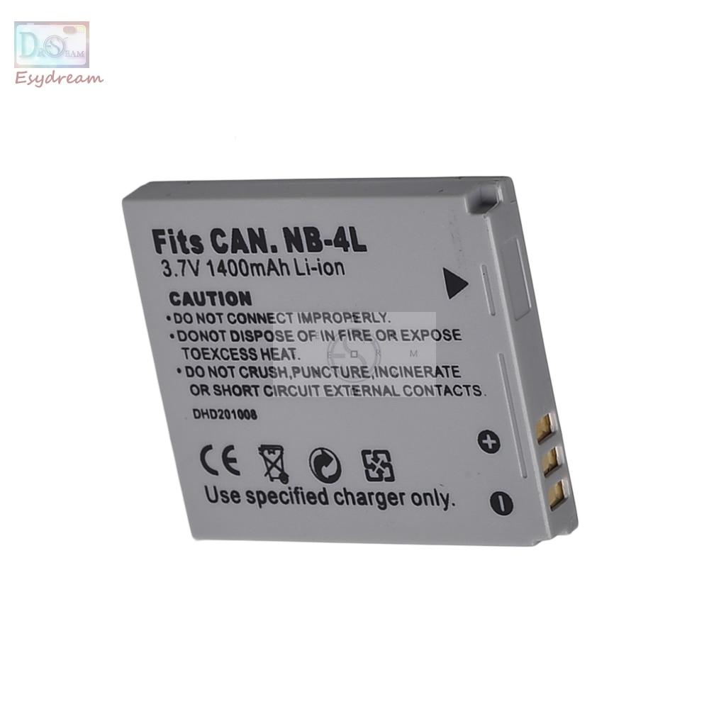 NB4L NB-4L 1400 mAh Bateria Da Câmera para Canon IXUS 115 130 XY Digital 400F 55 PowerShot ELPH 100 TX1 SD400 SD940 PM056
